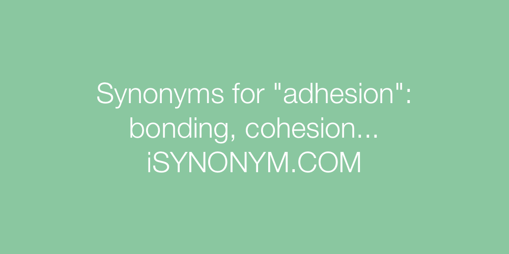 Synonyms adhesion