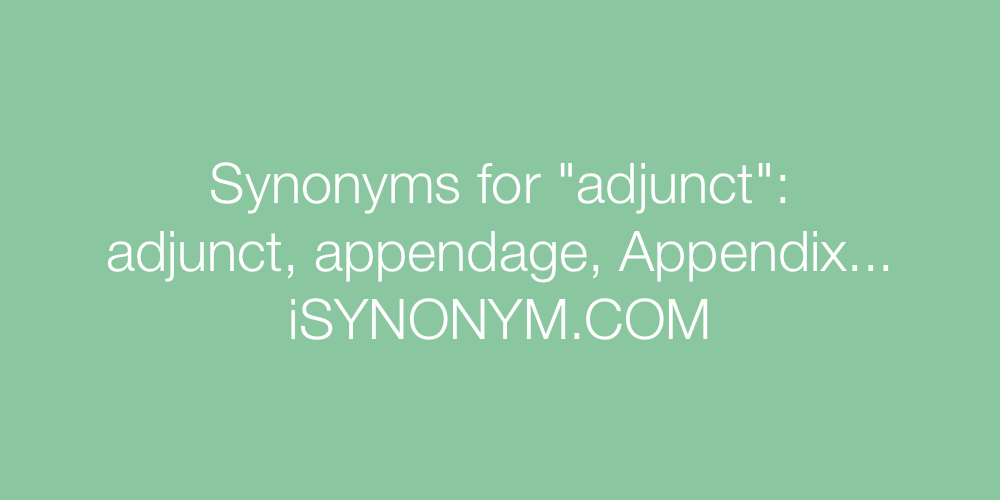Synonyms adjunct