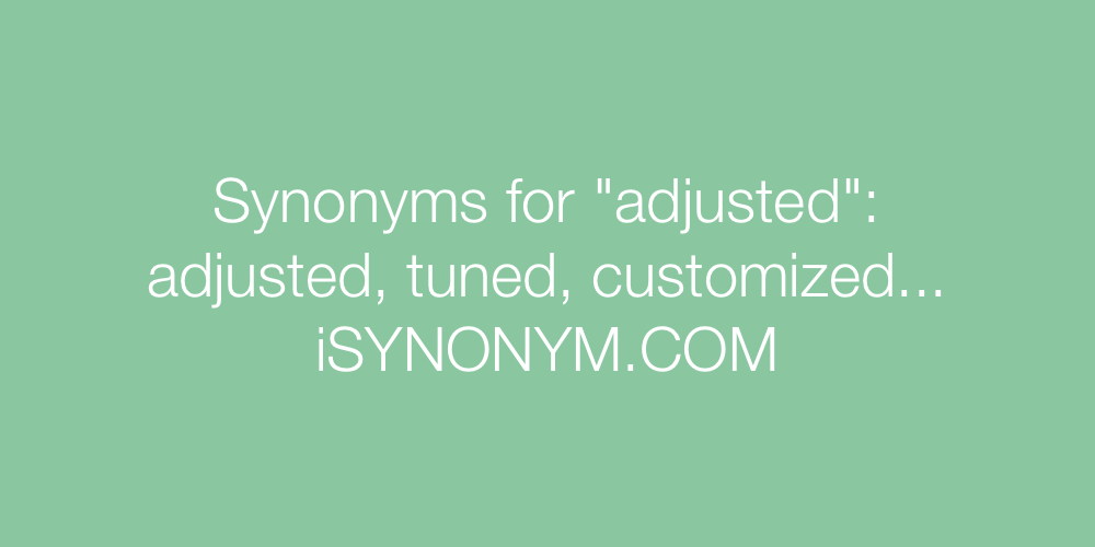 Synonyms adjusted