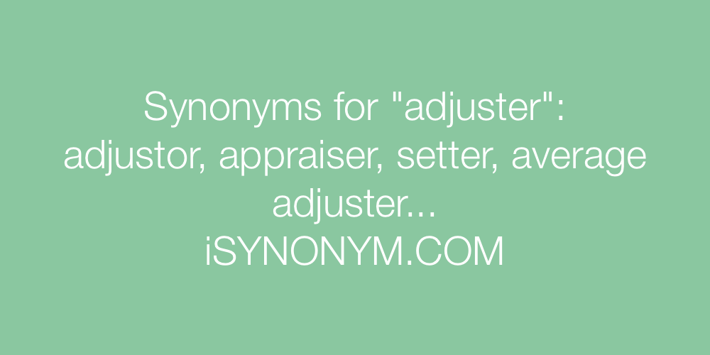 Synonyms adjuster