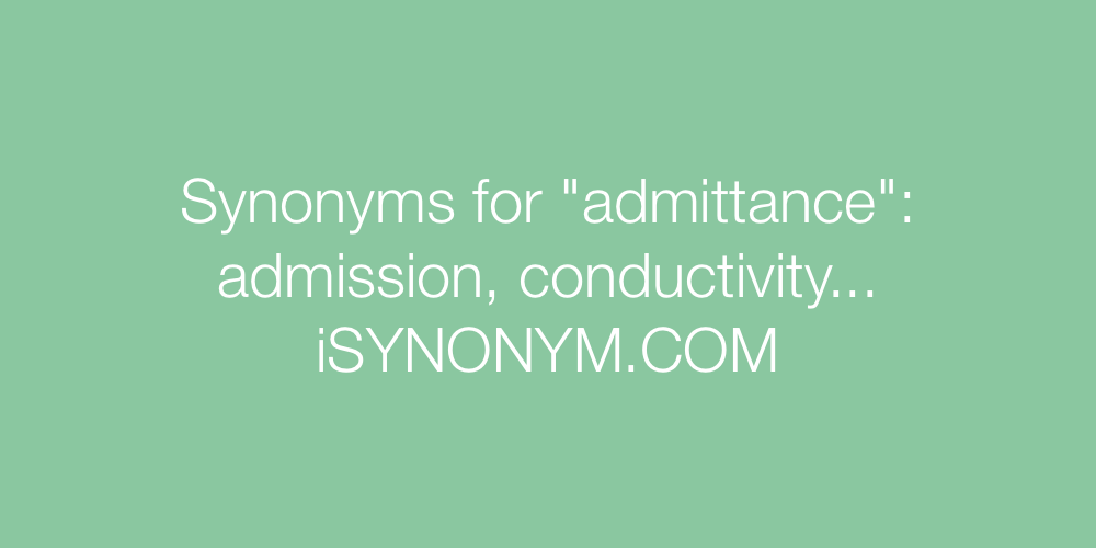 Synonyms admittance