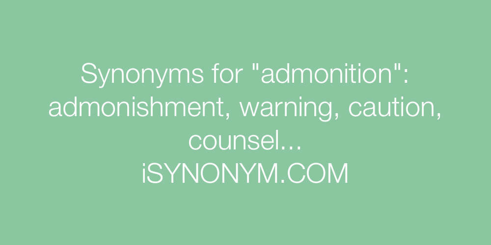 Synonyms admonition