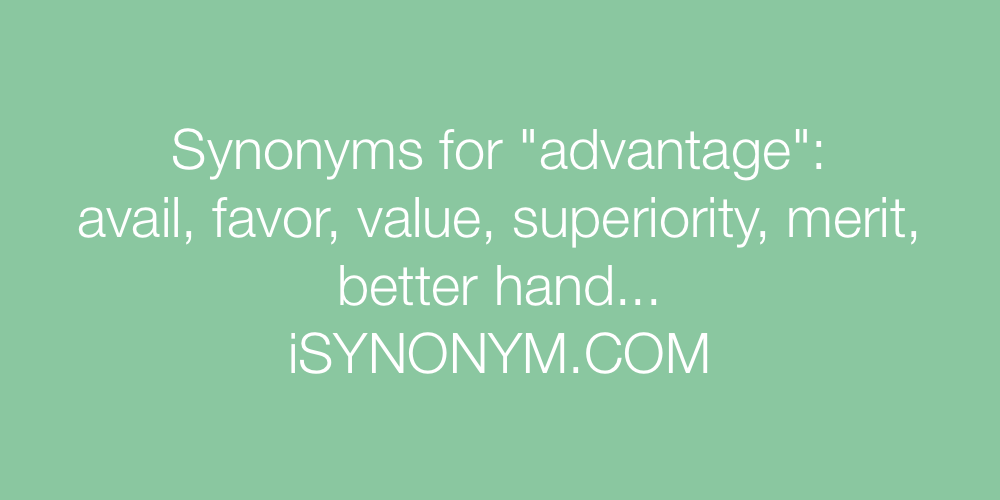 Synonyms advantage