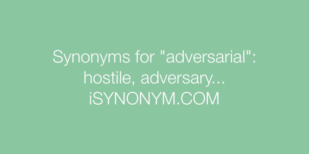 Synonyms adversarial