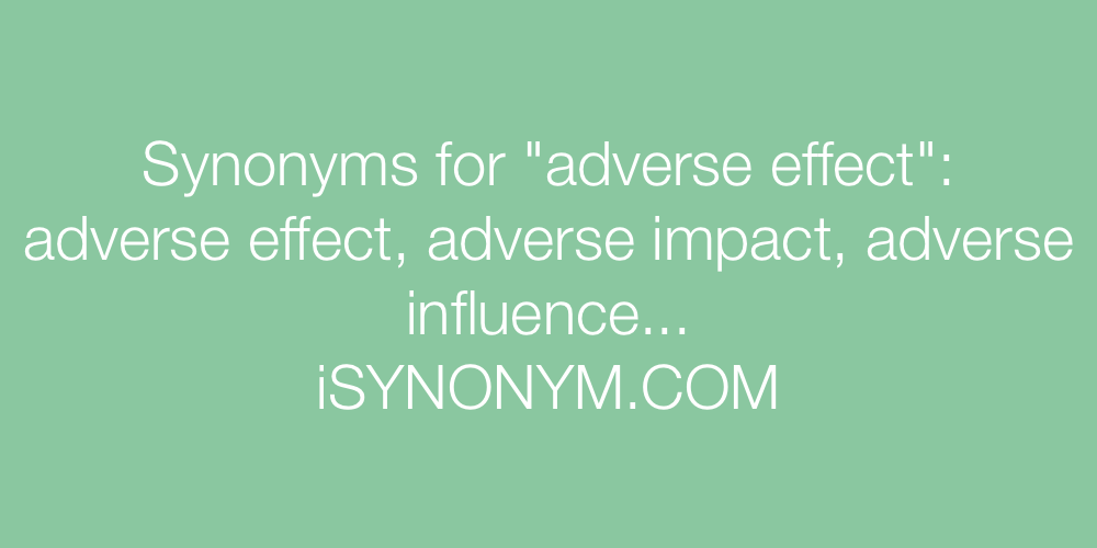 Synonyms adverse effect