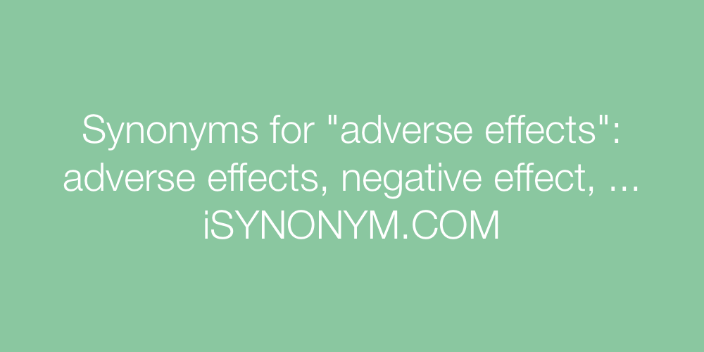 Synonyms adverse effects