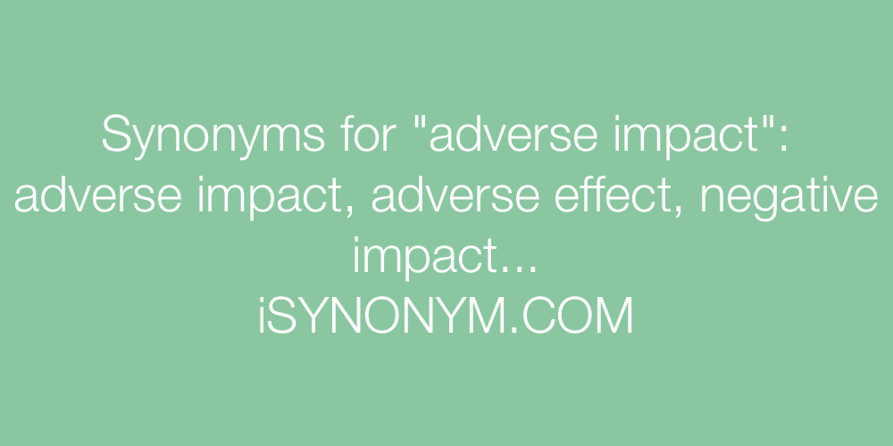 Synonyms adverse impact