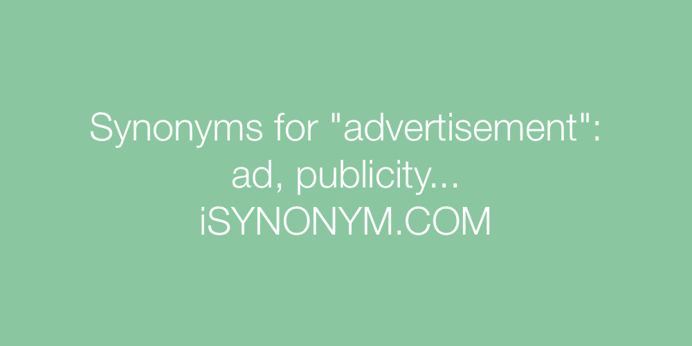 Synonyms advertisement