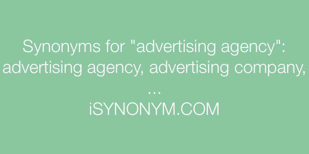 Synonyms advertising agency