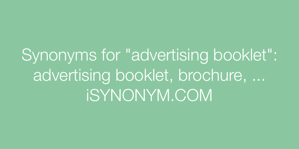 Synonyms advertising booklet