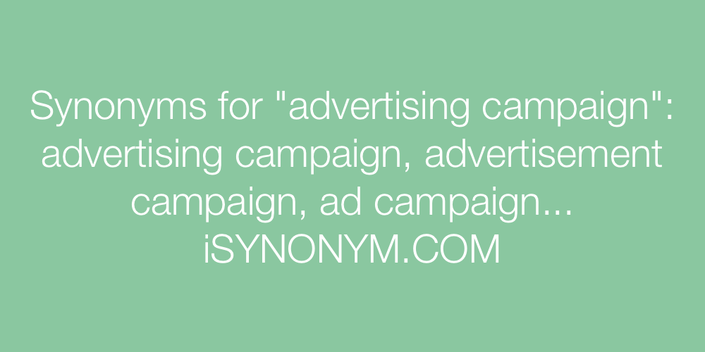 Synonyms advertising campaign