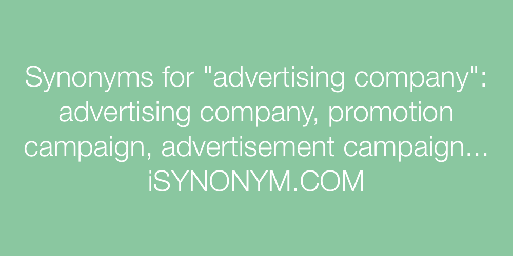 Synonyms advertising company