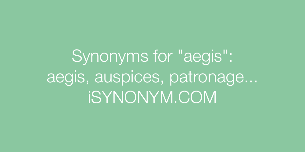 Synonyms aegis