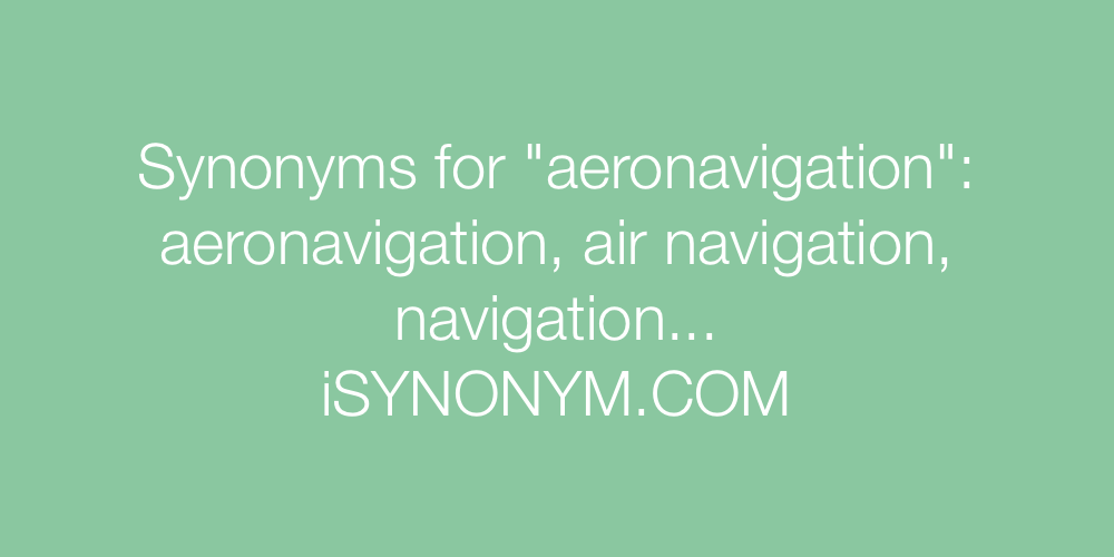 Synonyms aeronavigation
