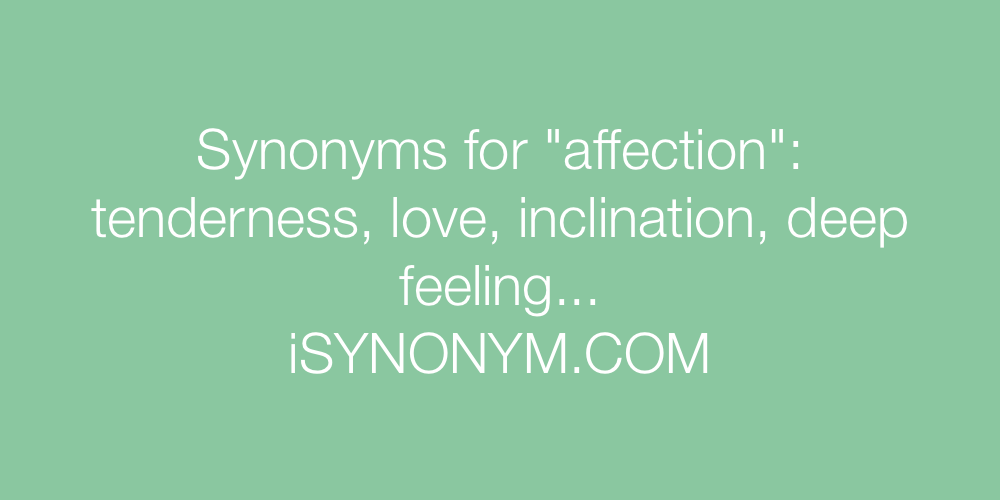 Synonyms affection