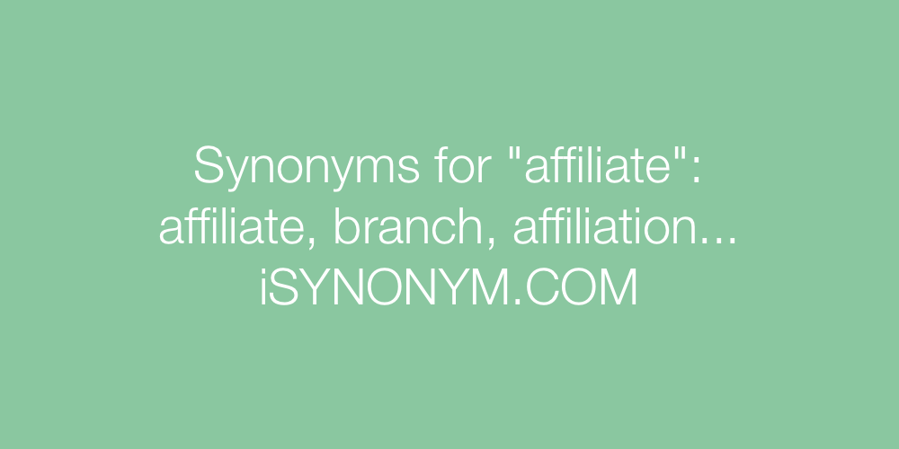 Synonyms affiliate