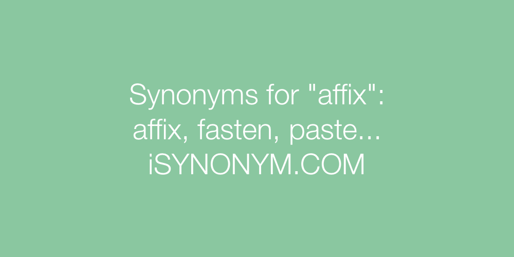 Synonyms affix