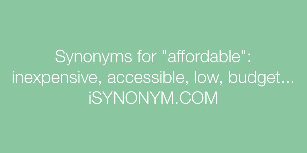 Synonyms affordable