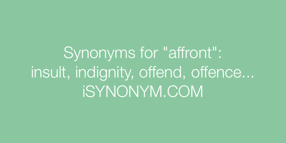 Synonyms affront
