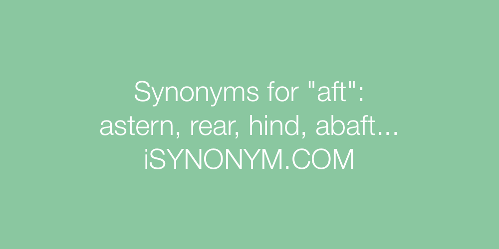 Synonyms aft