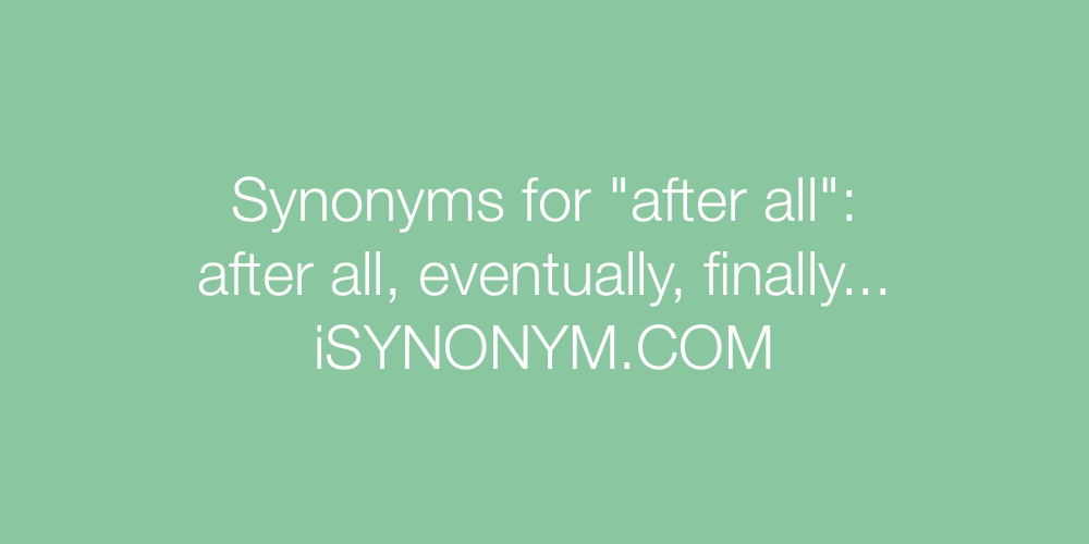 Synonyms after all