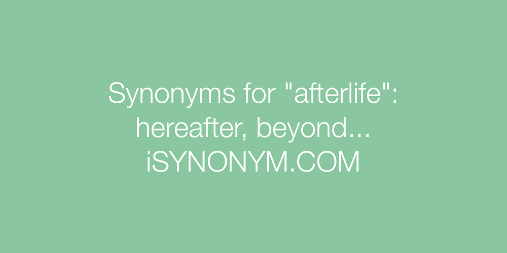 Synonyms afterlife