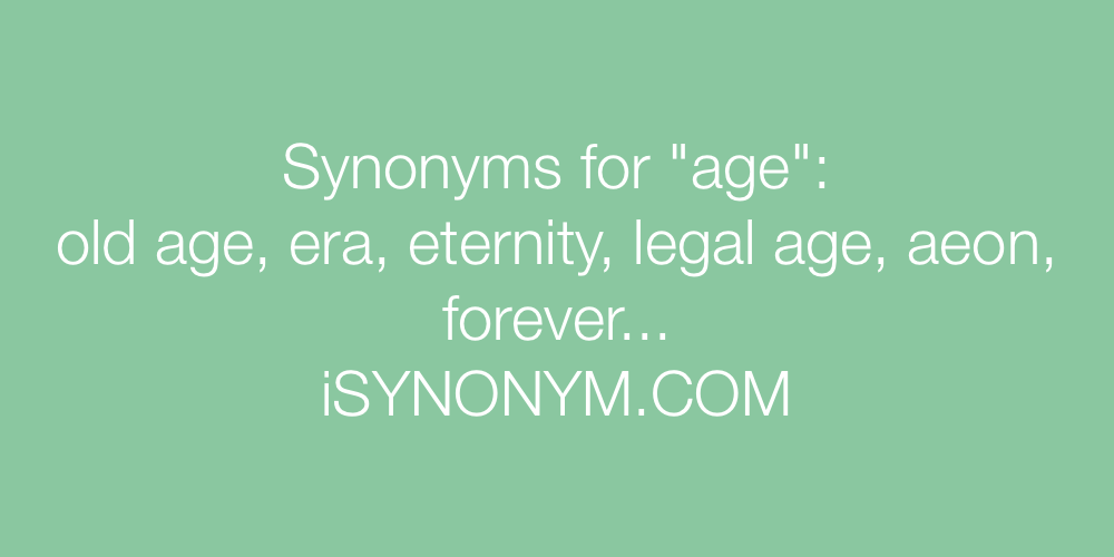 Synonyms age