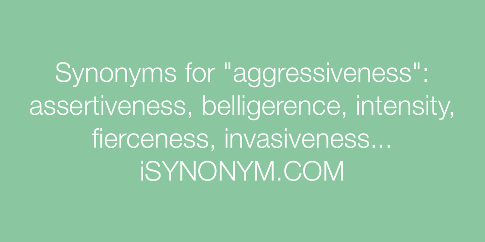 Synonyms aggressiveness