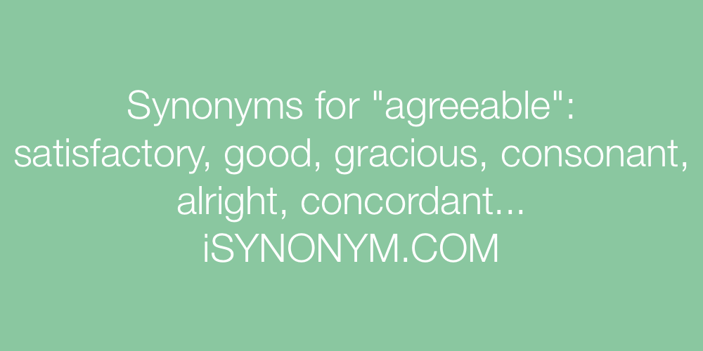 Synonyms agreeable