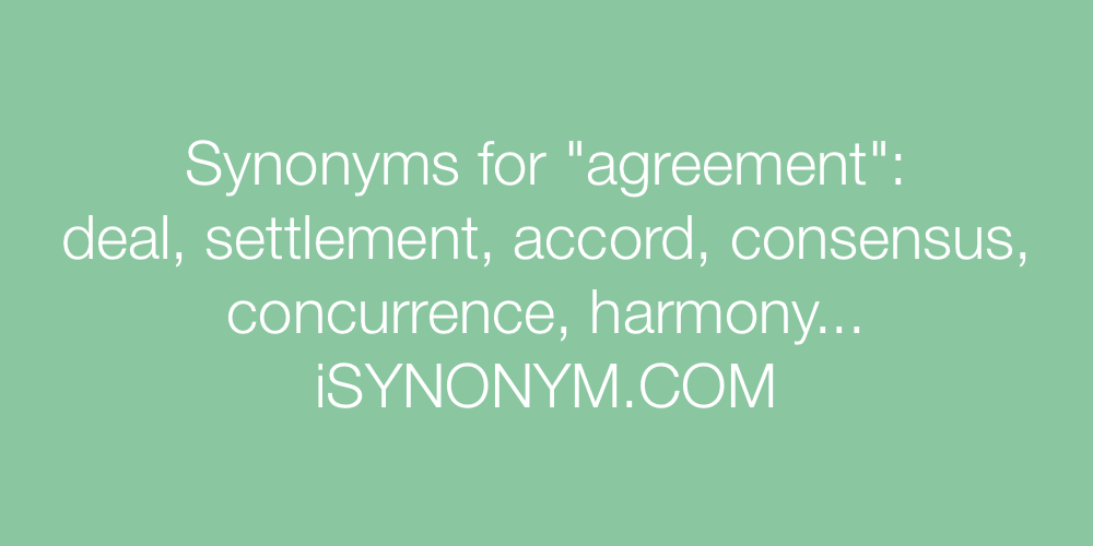 Synonyms agreement