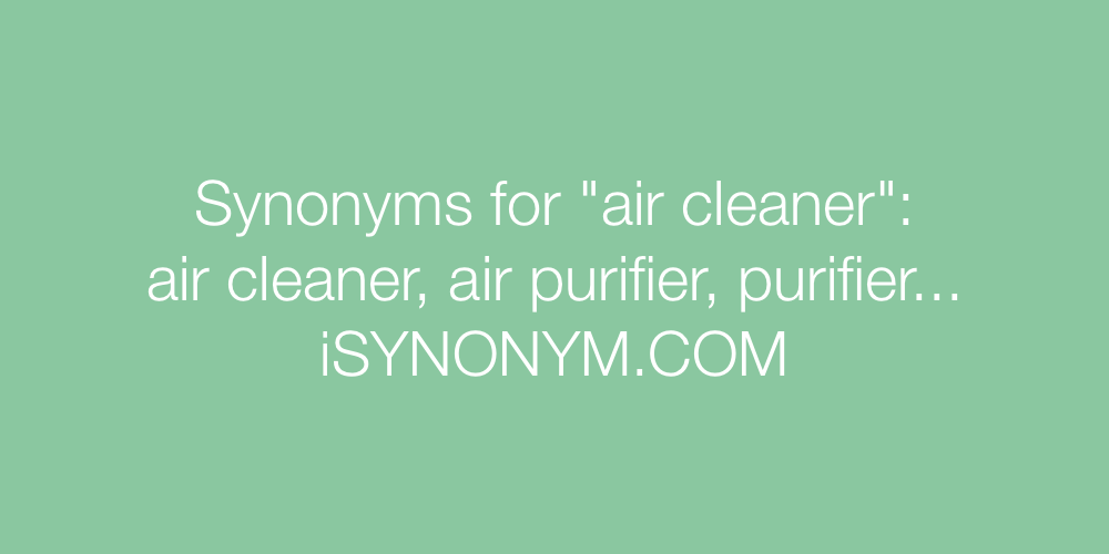 Synonyms air cleaner