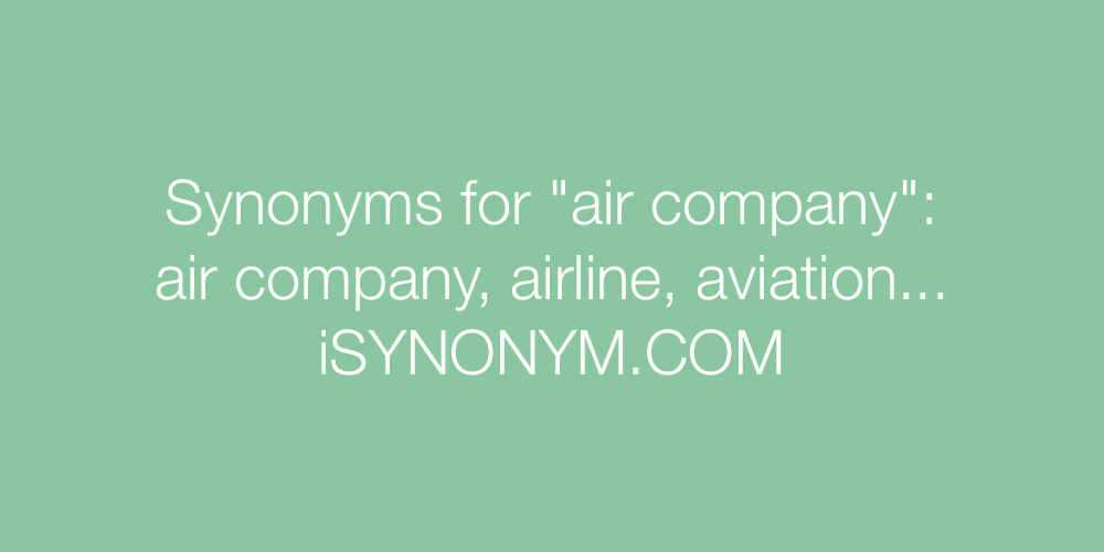 Synonyms air company
