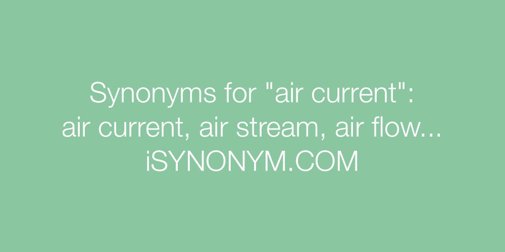 Synonyms air current