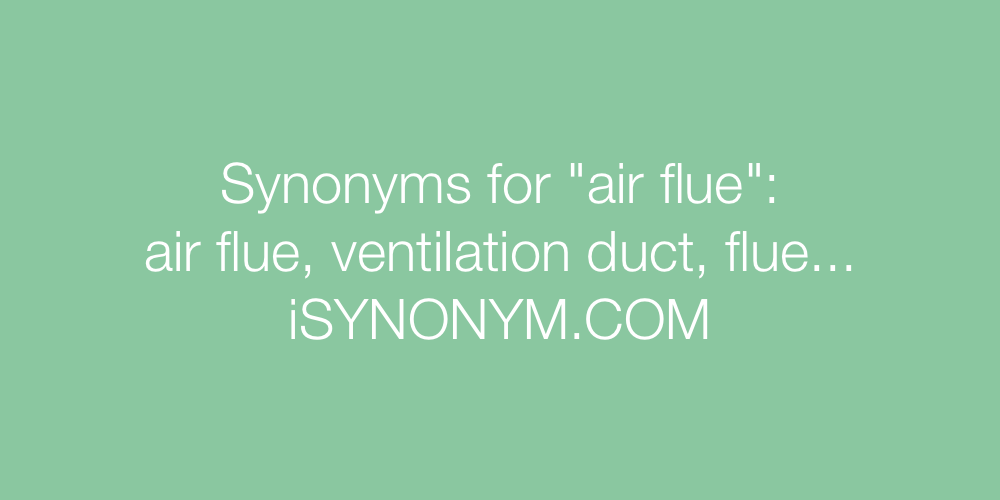 Synonyms air flue