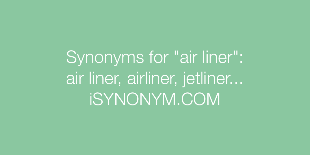 Synonyms air liner