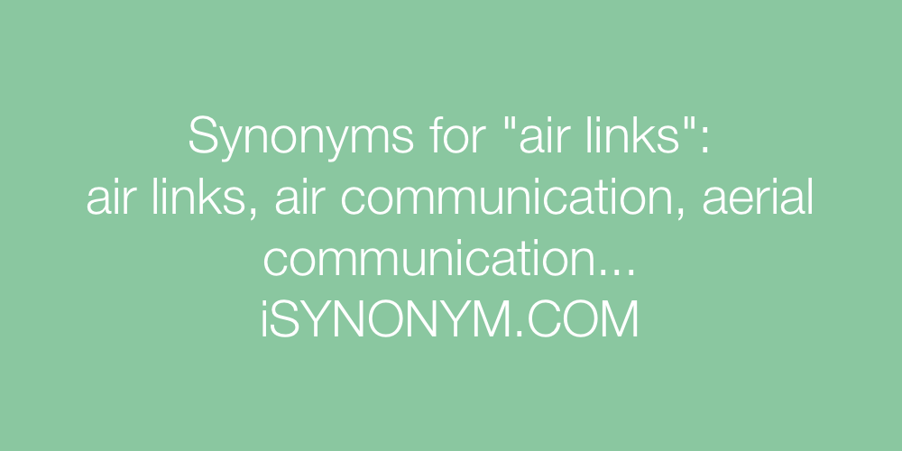 Synonyms air links