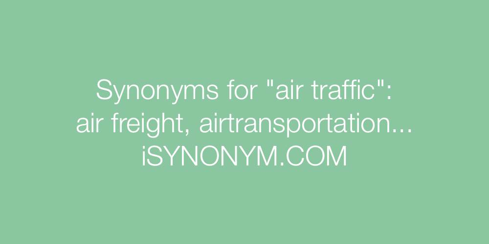 Synonyms air traffic