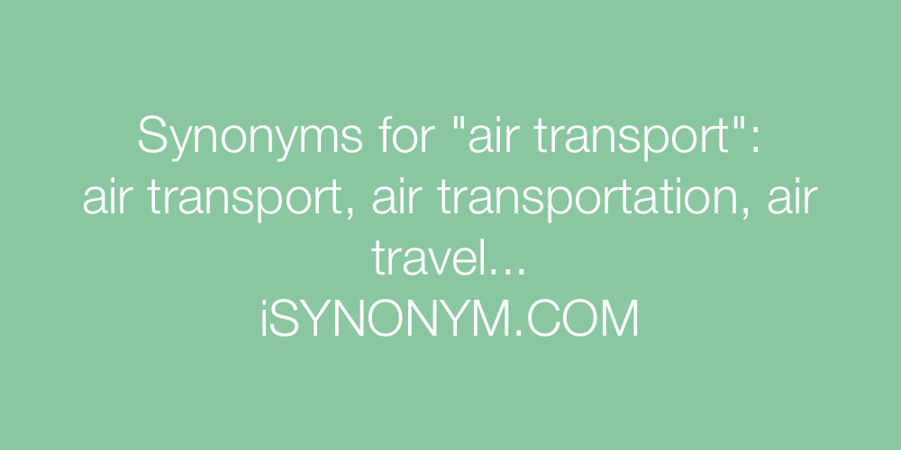 Synonyms air transport