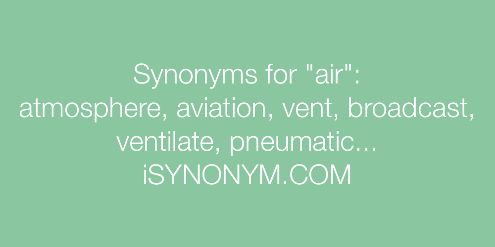 Synonyms air