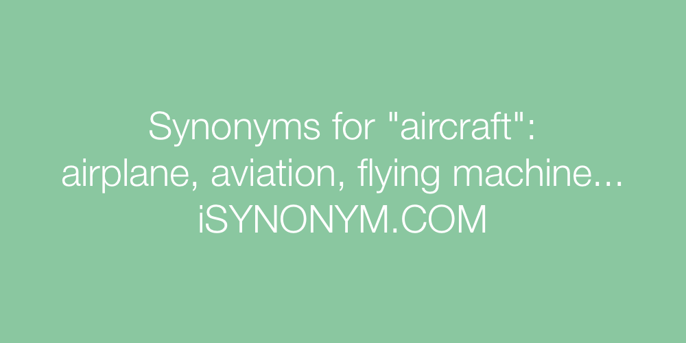 Synonyms aircraft