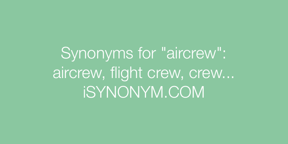Synonyms aircrew