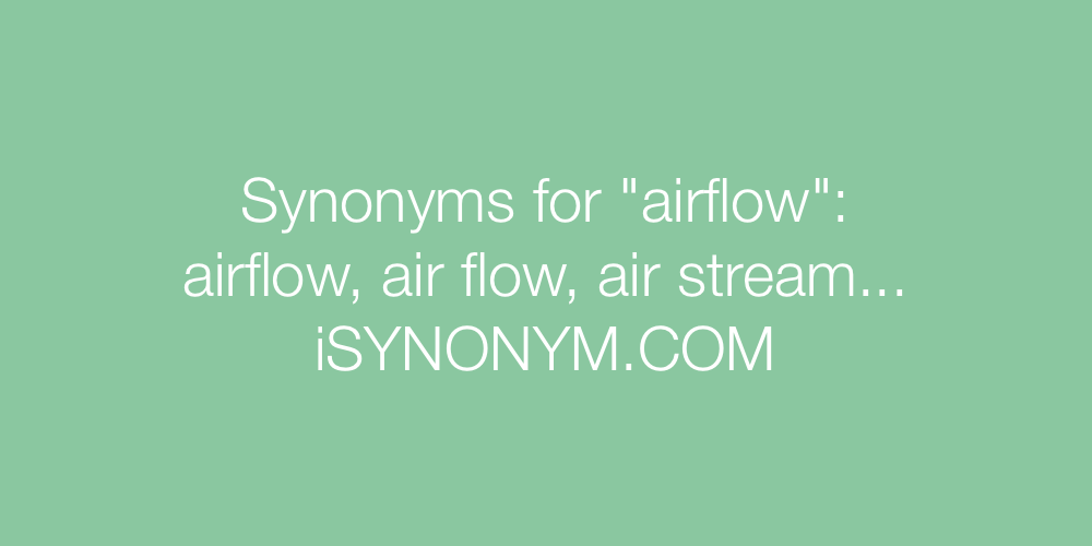 Synonyms airflow