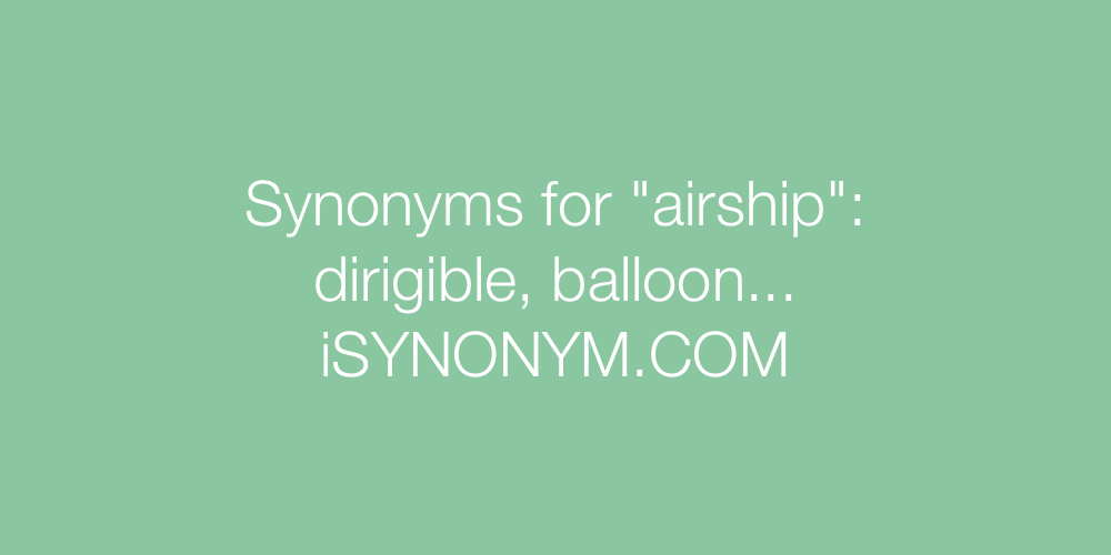 Synonyms airship