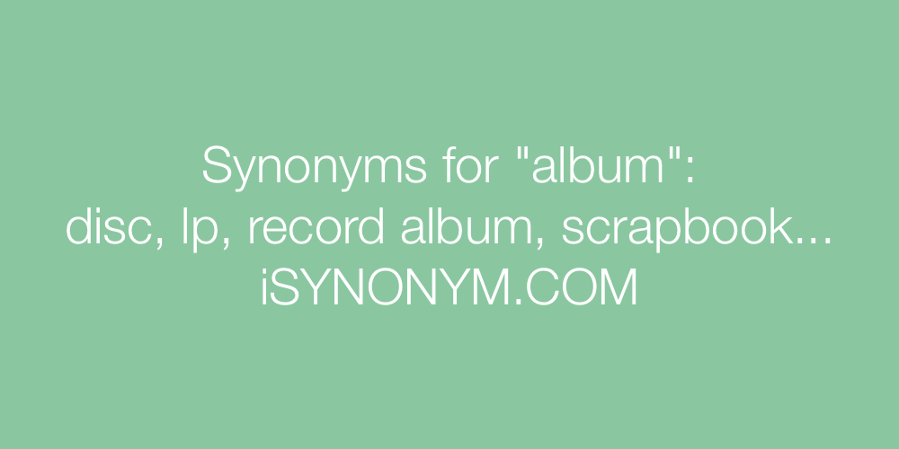 Synonyms album