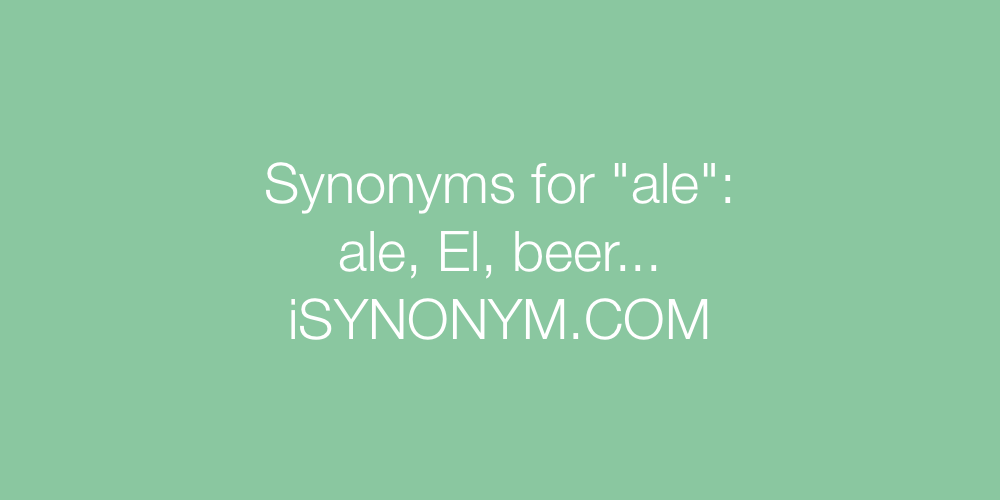 Synonyms ale