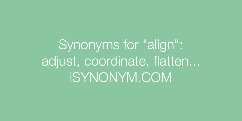 Synonyms align