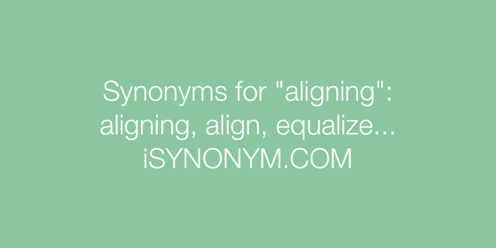 Synonyms aligning