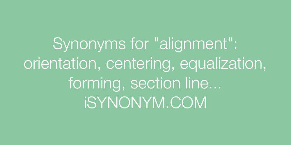 Synonyms alignment
