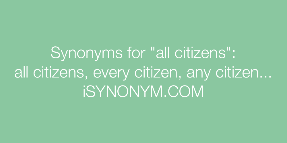 Synonyms all citizens