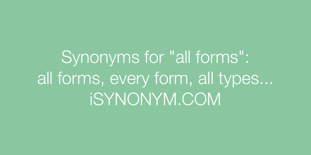 Synonyms all forms